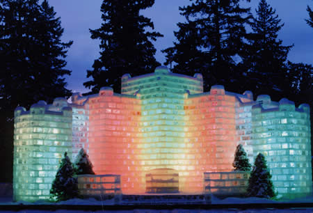 eagle river ice castle WI