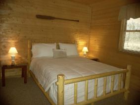 Central Wisconsin Cabin Bedroom