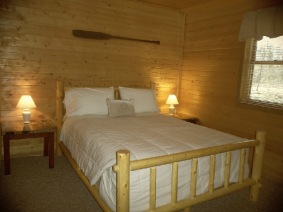Central Wisconsin Cabin Bedroom