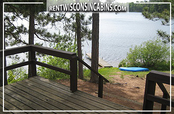 Northwoods deck and lake view