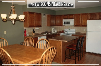 kitchen in town home rental