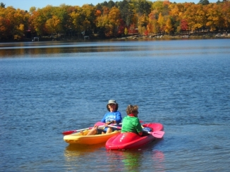 Kayaking on Little St. Germain Lake