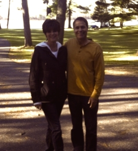 Joe Mogensen, Founder of RentWisconsinCabins.com with vacation rental owner Shari McPherson, Whispering Pines Retreat