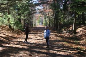 Exploring the Bearskin hiking trail.