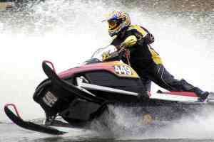 Racing-Snowmobile-on-Water