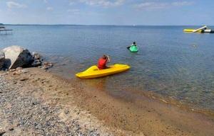Kayaking, lake, Minnesota, boat
