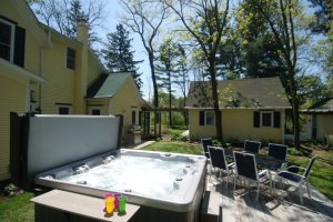 Relax and Enjoy the warm hot tub on cooler nights