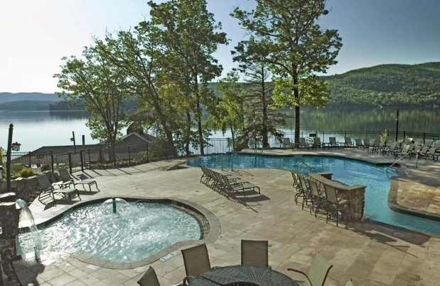 This luxury rental in Lake George makes working for it worthit.